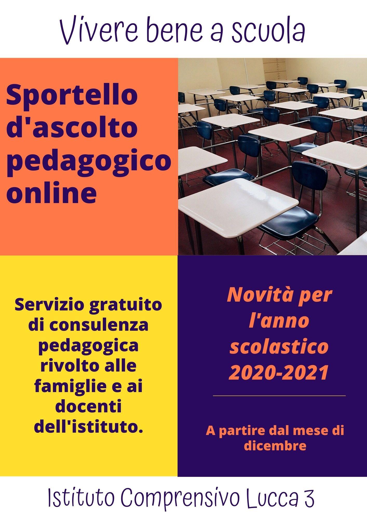 Sportello d'ascolto pedagogico on line per genitori e insegnanti